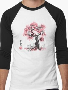 Forest Spirits sumi-e  Men's Baseball ¾ T-Shirt