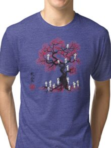Forest Spirits sumi-e  Tri-blend T-Shirt