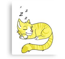 Sleepy Yellow Tabby Cat Canvas Print