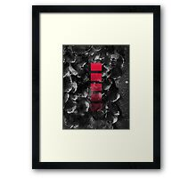 black ocean Framed Print