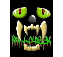 Scary Teeth and Eyes Halloween T-shirt, etc. design Photographic Print