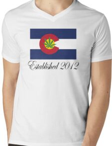 Colorado Marijuana 2012 Mens V-Neck T-Shirt