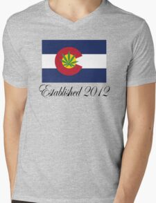 Colorado Marijuana 2012 Mens V-Neck T-Shirt