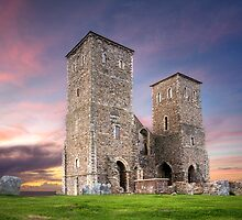 Reculver Tower in Kent UK by Robert Radford