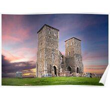 Reculver Tower in Kent UK Poster