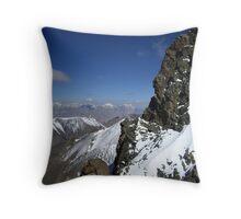 Snowy Rockface - Mountain Top Throw Pillow