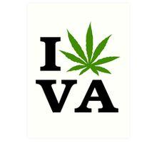 I Love Virginia Marijuana Cannabis Weed  Art Print