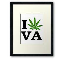 I Love Virginia Marijuana Cannabis Weed  Framed Print