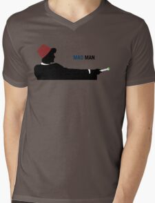 Mad Man (with a Box) Mens V-Neck T-Shirt