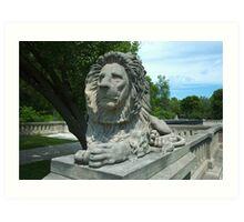 Milwaukee Lion Art Print