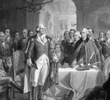 Washington Meeting His Generals Sticker