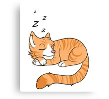 Sleepy Orange Cat Canvas Print
