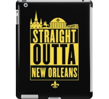Straight Outta New Orleans (Black and Gold) iPad Case/Skin