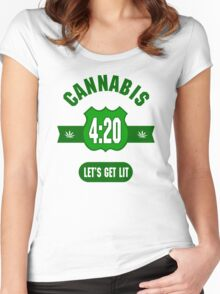 Cannabis 420 Women's Fitted Scoop T-Shirt