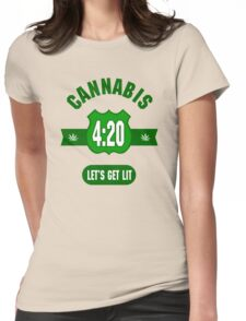 Cannabis 420 Womens Fitted T-Shirt