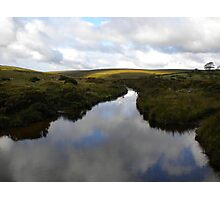 Reflection of Clouds in River Dart Photographic Print
