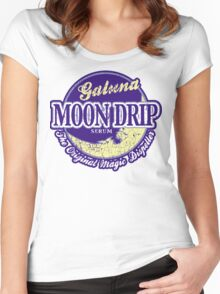 Galuna Moon Drip 2.0 Women's Fitted Scoop T-Shirt