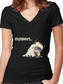 Appa on Mondays V2 Women's Fitted V-Neck T-Shirt