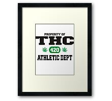Marijuana THC Athletic Dept Framed Print