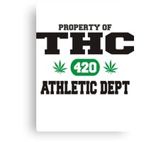 Marijuana THC Athletic Dept Canvas Print