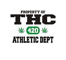 Marijuana THC Athletic Dept Photographic Print
