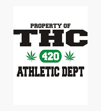 Marijuana THC Athletic Dept Photographic Print