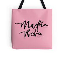 Maglia Rosa : Black Script Tote Bag
