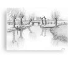 REAL DUTCH - PENCIL DRAWING Canvas Print