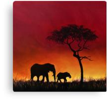 Sunset Stroll! Canvas Print