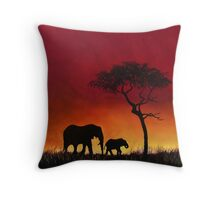 Sunset Stroll! Throw Pillow