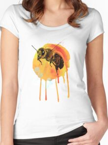 Honey bee watercolour Women's Fitted Scoop T-Shirt