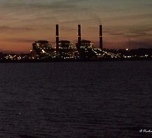 Power In The Dark - Martin Lake Power Plant by Betty Northcutt