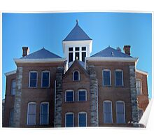 Geometric - Symmetry of Anderson, Texas courthouse Poster