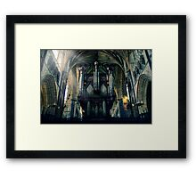 Organ at Exeter Cathedral Framed Print