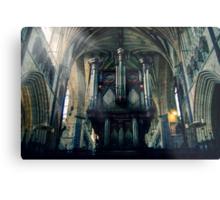Organ at Exeter Cathedral Metal Print