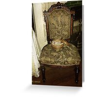 Chair by the Hearth Greeting Card