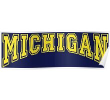 MICHIGAN for Blue Backgrounds Poster