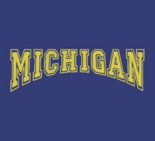 MICHIGAN for Blue Backgrounds by MGR Productions