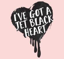 Jet Black Heart One Piece - Long Sleeve
