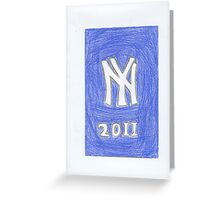 Yankees New Year Greeting Card
