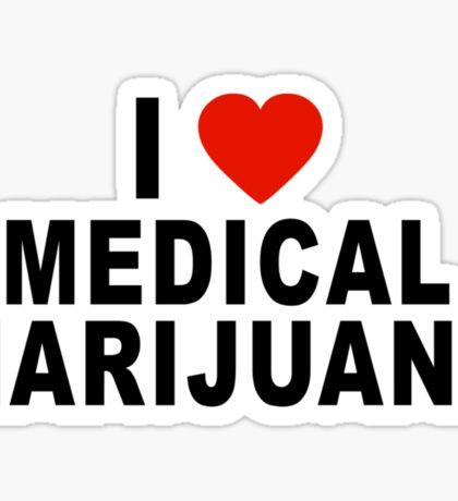 I Love Medical Marijuana Sticker