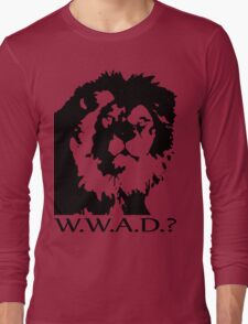 W.W.A.D.? Long Sleeve T-Shirt