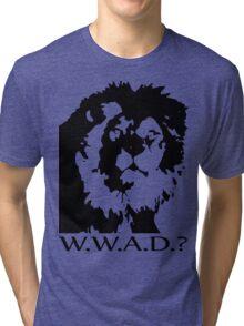 W.W.A.D.? Tri-blend T-Shirt