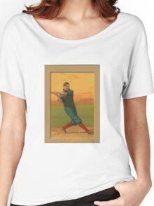 Old baseball card  Women's Relaxed Fit T-Shirt