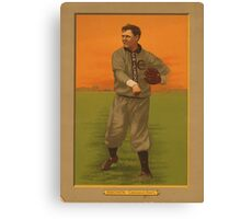 Old baseball card  Canvas Print