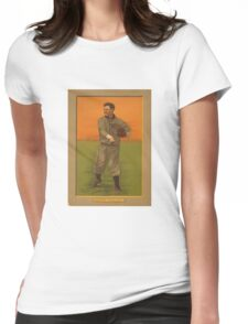 Old baseball card  Womens Fitted T-Shirt