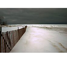 Winter storm approaching Photographic Print