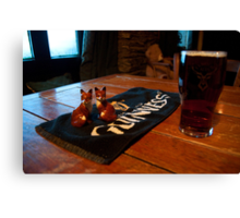Foxy beer..! Canvas Print