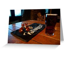 Foxy beer..! Greeting Card