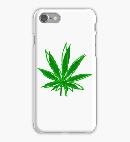 Abstract Cannabis Leaf iPhone Case/Skin